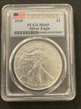 2018 American SILVER EAGLE First Strike PCGS MS 70 #482