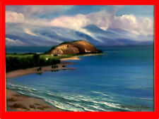 ORIG. Oil x Canvas Painting LAKE SEVAN/ ARMENIA talented RUSSIAN ARMENIAN Artist