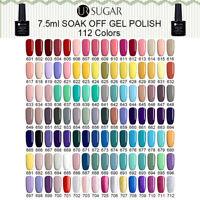 7.5ml Nail UV Gel Polish Soak Off Nail Art Top Base Coat Gel Varnish UR SUGAR