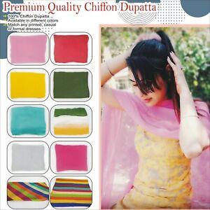 Premium quality Chiffon Dupatta in Plain color scarf Hijab For shalwar kameez