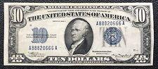 $10 SERIES 1934A SILVER CERTIFICATE / FANCY SERIAL NUMBER