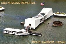 USS Arizona Memorial, Pearl Harbor, Hawaii, Battleship, World War II -- Postcard