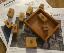 Mystery Wooden Box Puzzle-Vintage Hand-Crafted w/ No Instructions-ca 1900