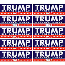10Pcs/Set Donald Trump Car Stickers For President 2020 Keep America Great Bumper