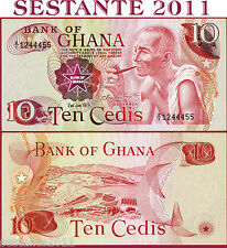 GHANA    -   10 CEDIS 2.1.  1978   - Prefix Z/1   -   P 16f    -    FDS / UNC