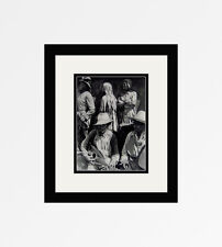 """Charming CARTIER-BRESSON Antique 1930s Photogravure """"Music of Mexico"""" FRAMED COA"""