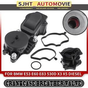 Engine Crankcase Vent Valve Kit for BMW E60 E83 E53 530d X3 X5 02-11 3.0L M57