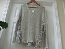 Modern NWT 90.00$ RD style assymetrical  White Beach knitted blouse, SZ M/M