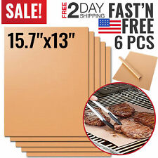 Copper Grill Mat BBQ Pad Non Stick Barbecue Mat Cooking Chef Bake Reusable New