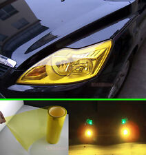"12"" x 60"" - Glossy Car Headlight Taillight Fog Tint Vinyl Wrap Sticker Gold HD"