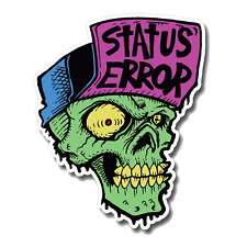 Status Error Classic Skull Sticker / Skateboard / Blind / World Industries / JDM
