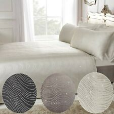 Swirl Glitter Jacquard Bedding Luxury Duvet Cover and Pillowcase Set