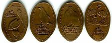 SeaWorld Birds Of A Feather Flock Together - Lot Of Four Copper Pressed Pennies