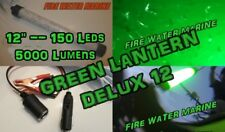 "12"" DELUXE LED GREEN UNDERWATER SUBMERSIBLE NIGHT FISHING LIGHT crappie squid"