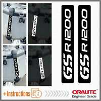 2x GS R 1200 Reflective Black Adesivi Touractech BMW Motorrad Stickers PEGATINA