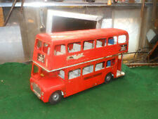 Vintage Tri-ang Bus, London Transport, Pressed Steel Double Decker, Large