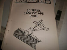 Land Pride Owner's PARTS Manual 35 SERIES LANDSCAPE RAKE