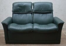 EKORNES STRESSLESS LEATHER RECLINING 2 SEATER SOFA