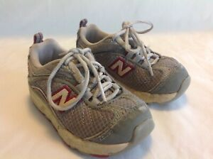 New Balance kids 607 toddler size 7 Gray Lace up sneakers tennis shoes