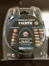 Monster Premium Black Platinum Ultra HD High Speed HDMI Cable - 35 ft