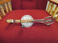 Vintage Ecko USA High Speed Super Center Egg Beater Hand Held Black handle/knob