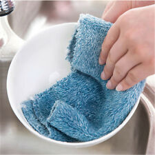 Anti-grease Color Dish Cloth Bamboo Fiber Wash Towel Magic Cleaning Wiping Rags