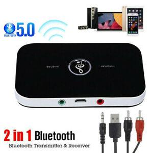2 in 1 Bluetooth Audio Trasmettitore Ricevitore HIFI Musica Adattatore AUX