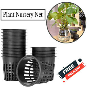 50 PCS 3 Inch Hydroponic Cups, Garden Durable Plastic Slotted Mesh Net Cups Pots