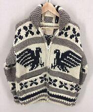Vintage COWICHAN WOOL Sweater THUNDERBIRD EAGLES~Hand Knit~Big Lebowski