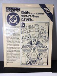 Wonder Woman 1 Perez DC Comics Releases February 1987 Retailer Newsletter Batman