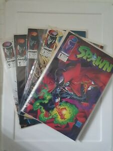 Spawn #1- 10 Comics lot mcfarlane