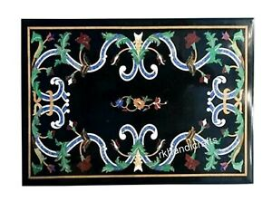 18 x 30 Inches Marble Coffee Table Top with Marquetry Art Sofa table Home Decor