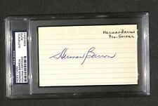 "Herman Barron ""1st Jewish PGA tournament winner"" SIGNED AUTOGRAPHED 3x5 PSA/DNA"