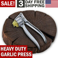 Garlic Press Crusher Mincer Chopper Peeler Squeeze Cutter Stainless Steel Ginger