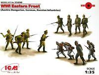 ICM Models 1:35 WWI Eastern Front German, Russian, Hungarian Figures Model Kit
