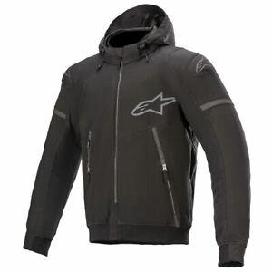Alpinestars Sektor V2 Tech Motorbike Motorcycle Hooded Textile Jacket Black