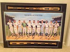 500 HOME RUN Baseball MLB Litho Signed by all 11 Hitters - JSA Full Letter COA