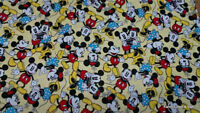 Handcrafted Curtain Valance Custom Sewn From Mickey MInnie Mouse Yellow Fabric
