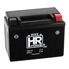 HR Bike Motorrad Roller Batterie Gel 12V 5Ah YB4L-B CB4L-B 50411 *NEU*