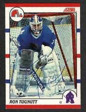 1990-91 Score NHL Nordiques' goalie Ron Tugnutt, Autographed
