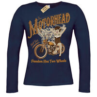 Motorhead T-Shirt biker pinup ladies long sleeve