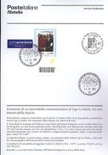 ITALIA 2003 UGO LA MALFA  BOLLETTINO COMPLETO DI FRANCOBOLLI ANNULLO FDC