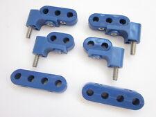 Blue Hi Temp Ignition Lead Brackets Seperators Mounts Set Spark Plug Wires