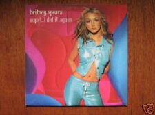 BRITNEY SPEARS CD SINGLE EU OOPS I DID IT AGAIN