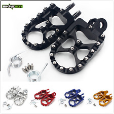 Wide Fat Footpegs Footrest For Suzuki DRZ400E DRZ400SM 05-16 RM125 RM250 RMX250S