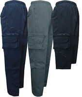 Mens Zip Off Cargo 2 in1 Trousers Tracksuit Sport Casual Bottoms 3/4 S - XXL