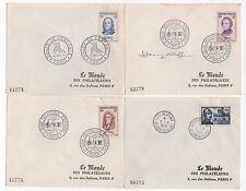 France  8 FDC enveloppes timbres 1er jour  hommes célèbres /FDC167