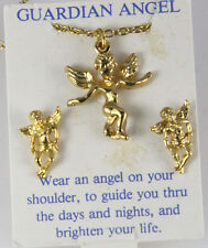 6030278 Guardian Angel Necklace & Earring Set Christian Religious Jewelry Jesus
