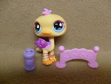 Littlest Pet Shop #516 Yellow Ostrich Teardrop Eyes Orange Feet & Beak 2007