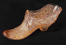 Bow Slipper Glass Figurine in Amber
